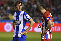 March 2, 2017 - La Coruna, Spain - Mosquera and Gabi worried about Fernando Torres. La Liga Santander Matchday 25. Riazor Stadium, La Coruna, Spain. March 02, 2017. (Credit Image: © Monica Arcay Carro/VW Pics via ZUMA Wire/ZUMAPRESS.com)