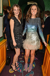Left to right, LADY VIOLET MANNERS and ROSANNA FALCONER at the 2nd Bright Young Things Back In London party held at Annabel's, 44 Berkeley Square, London on 11th February 2016.