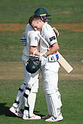 Central Districts Dane Cleaver celebrates scoring a double century in day 2 of the Plunket Shield Cricket match, Central Districts v Northern Districts, McLean Park, Napier, Monday, February 24, 2020. Copyright photo: Kerry Marshall / www.photosport.nz