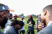 January 28 2016: Team Irvin defensive backs get together after the Pro Bowl practice at Turtle Bay Resort on North Shore Oahu, HI. (Photo by Aric Becker/Icon Sportswire)