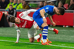 13-03-2019 NED: Ajax - PEC Zwolle, Amsterdam<br /> Ajax has booked an oppressive victory over PEC Zwolle without entertaining the public 2-1 / Nicolas Tagliafico #31 of Ajax, Pelle Clement #22 of PEC Zwolle