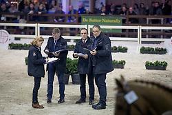 Jury, De Smet Stefaan, Bode Herman, Van den Broeck Herman, Meurrens Inge <br /> Hengsten keuring BWP - Koningshooikt 2017<br /> © Dirk Caremans<br /> 27/12/2016
