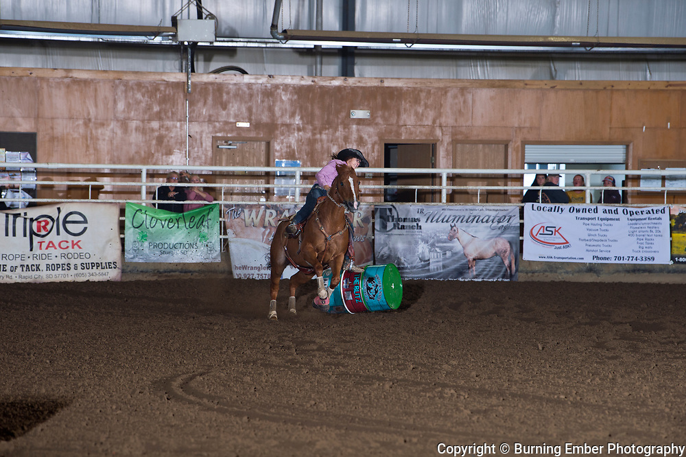 CAlley Worth at the Blitz Open Barrel Race Sept 22nd 2019.  Photo by Josh Homer/Burning Ember Photography.  Photo credit must be given on all uses.