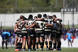 Boland huddle before kick off during the Currie Cup premier division match between the Boland Cavaliers and The Blue Bulls held at Boland Stadium, Wellington, South Africa on the 23rd September 2016<br /> <br /> Photo by:   Shaun Roy/ Real Time Images