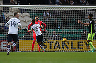 Preston North End striker Callum Robinson (37) scores a goal 2-0 during Preston North End and Brighton and Hove Albion at Deepdale, Preston, England on 14 January 2017.