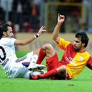 Eskisehirspor's Erkan ZENGIN (L) during their Turkish Super League soccer match Galatasaray between Eskisehirspor at the TT Arena at Seyrantepe in Istanbul Turkey on Monday, 26 September 2011. Photo by TURKPIX