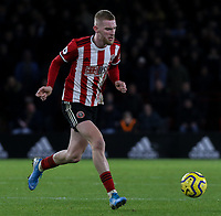 Sheffield United's Oliver McBurnie<br /> <br /> Photographer Rich Linley/CameraSport<br /> <br /> The Premier League - Sheffield United v West Ham United - Friday 10th January 2020 - Bramall Lane - Sheffield <br /> <br /> World Copyright © 2020 CameraSport. All rights reserved. 43 Linden Ave. Countesthorpe. Leicester. England. LE8 5PG - Tel: +44 (0) 116 277 4147 - admin@camerasport.com - www.camerasport.com