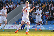 Thomas Doyle of England (8) scores during the UEFA European Under 17 Championship 2018 match between England and Israel at Proact Stadium, Whittington Moor, United Kingdom on 4 May 2018. Picture by Mick Haynes.