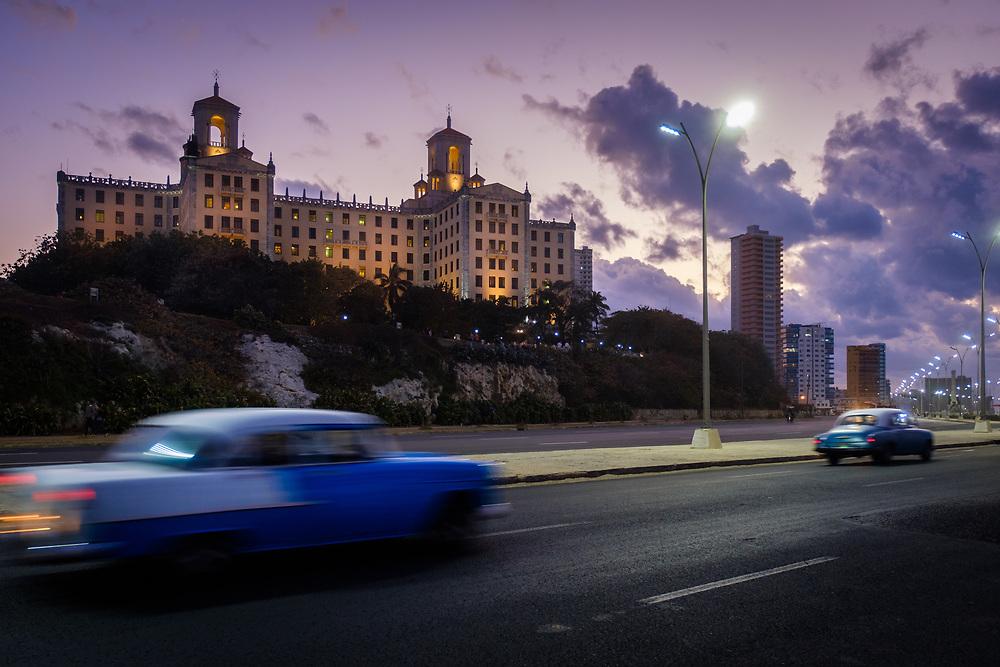HAVANA, CUBA - CIRCA MARCH 2017: Historic Hotel Nacional. A popular tourist attraction in Havana.