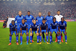 October 22, 2017 - Rades, Tunisia - Team of Supersport United FC during the Semi-final return of the CAF Cup between Club Africain (CA) and Supersport United FC of South Africa at the stadium of Rades  in Tunis..Club Africain lost (1-3) against the South African Super Sport Utd who will face TP Mazembe in the final. (Credit Image: © Chokri Mahjoub via ZUMA Wire)