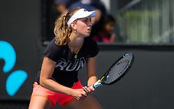 January 12, 2019 - Melbourne, AUSTRALIA - Elise Mertens of Belgium during practice ahead of the 2019 Australian Open Grand Slam tennis tournament (Credit Image: © AFP7 via ZUMA Wire)