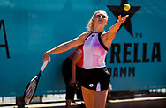 Katerina Siniakova of the Czech Republic in action during the doubles semi-final of the Mutua Madrid Open 2021, Masters 1000 tennis tournament on May 6, 2021 at La Caja Magica in Madrid, Spain - Photo Oscar J Barroso / Spain ProSportsImages / DPPI / ProSportsImages / DPPI