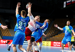 Michal Olejniczak of Poland during handball match between National Teams of Slovenia and Poland in Qualification Phase 2 of Men's EHF Euro 2022 Qualifiers, on March 9, 2021 in Arena Zlatorog, Celje, Slovenia. Photo by Vid Ponikvar / Sportida