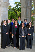 University of Arkansas professor Ana Bridges and her GPE students in Fayetteville, Ark. Photo by Beth Hall