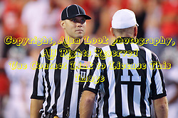 06 Sep 2014: Referee: Ron Hudson; Umpire: Dan Novak during a non-conference NCAA football game between the Delta Devils of Mississippi Valley State and the Redbirds of Illinois State at Hancock Stadium in Normal Il