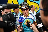 Sykkel<br /> Tour de France<br /> Foto: DPPI/Digitalsport<br /> NORWAY ONLY<br /> <br /> CYCLING - TOUR DE FRANCE 2009 - BARCELONA (ESP) - 09/07/2009 <br /> <br /> STAGE 6 - GERONE > BARCELONA - LANCE ARMSTRONG (USA) / ASTANA