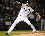 CHICAGO - SEPTEMBER 25:  Ross Detwiler #54 of the Chicago White Sox pitches against the Cleveland Indians on September 25, 2019 at Guaranteed Rate Field in Chicago, Illinois.  (Photo by Ron Vesely)  Subject:   Ross Detwiler