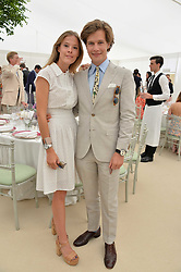 Lord Settrington and Eleanor Decaux at Cartier Queen's Cup Polo, Guard's Polo Club, Berkshire, England. 18 June 2017.<br /> Photo by Dominic O'Neill/SilverHub 0203 174 1069 sales@silverhubmedia.com
