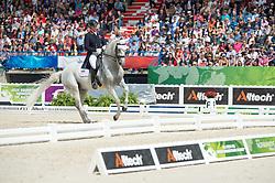 Michael Eilberg, (GBR), Half Moon Delphi - Freestyle Grand Prix Dressage - Alltech FEI World Equestrian Games™ 2014 - Normandy, France.<br /> © Hippo Foto Team - Jon Stroud<br /> 25/06/14