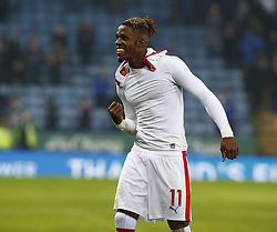 February 23, 2019 - Leicester, England, United Kingdom - Crystal Palace's  Wilfried Zaha celebrate they win.during English Premier League between Leicester City and Crystal Palace at King Power stadium , Leicester, England on 23 Feb 2019. (Credit Image: © Action Foto Sport/NurPhoto via ZUMA Press)