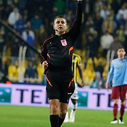 Referee's Bulent Yildirim during their Turkish superleague soccer derby Fenerbahce between Trabzonspor at the Sukru Saracaoglu stadium in Istanbul Turkey on Saturday 07 February 2015. Photo by Aykut AKICI/TURKPIX