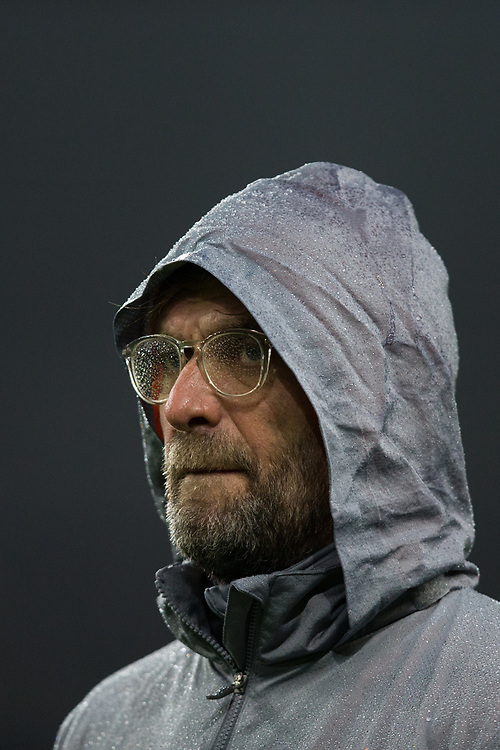 Liverpool manager Jurgen Klopp during the pre-match warm-up <br /> <br /> Photographer Craig Mercer/CameraSport<br /> <br /> UEFA Champions League Round of 16 First Leg - FC Porto v Liverpool - Wednesday 14th February 201 - Estadio do Dragao - Porto<br />  <br /> World Copyright © 2018 CameraSport. All rights reserved. 43 Linden Ave. Countesthorpe. Leicester. England. LE8 5PG - Tel: +44 (0) 116 277 4147 - admin@camerasport.com - www.camerasport.com