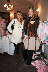 Left to right, ? and LULU DUNDAS at a shopping afternoon hosted by Amanda Kyme and Tamara Beckwith featuring designs from Elizabeth Hurley held at the Cadogan Hotel, 75 Sloane Street, London SW1 on 23rd November 2010.