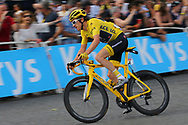 Geraint Thomas (GBR - Team Sky) Yellow Jersey during the 105th Tour de France 2018, Stage 21, Houilles - Paris Champs-Elysees (115 km) on July 29th, 2018 - Photo Kei Tsuji / BettiniPhoto / ProSportsImages / DPPI