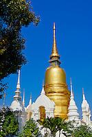 Thailande, Chiang Mai, Wat Suan Dok // Thailand, Chiang Mai, Wat Suan Dok