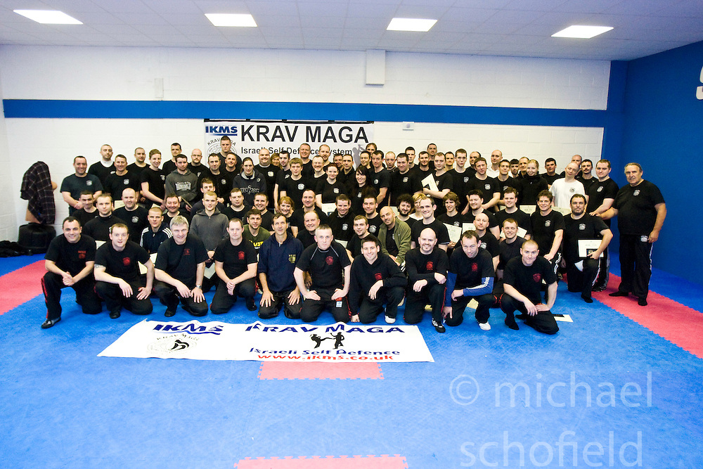 International Krav Maga Federation grading and bus seminar on the 14th November 2010..The Seminar and Grading was conducted by IKMF Chairman and Master Level Instructor, Avi Moyal, at the Scottish Martial Arts Centre, Dumyat Business Park, Tullibody. Pic of the grading students..Pic ©2010 Michael Schofield. All Rights Reserved.