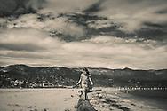 Camille playing at the beach. Santa Barbara, California. ©CiroCoelho.com. All Rights Reserved.