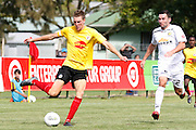 Adam Thomas  in action for Waikato during their White Ribbon Cup Final in Hamilton. NZFC, ASB Premiership football match, Waikato FC v  Team Wellington at Gower Park, Hamilton, New Zealand. Sunday 1 Apirl. Photo: Dion Mellow / photosport.co.nz