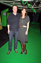DAVID CAMERON MP and his wife SAMANTHA at the premier of Ben Ten Alien Force at the Old Billingsgate Market, City of London on 15th February 2009.