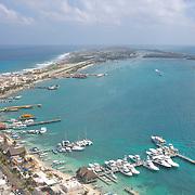 Aerial of Pier. <br /> Isla Mujeres,Quintana Roo.MX