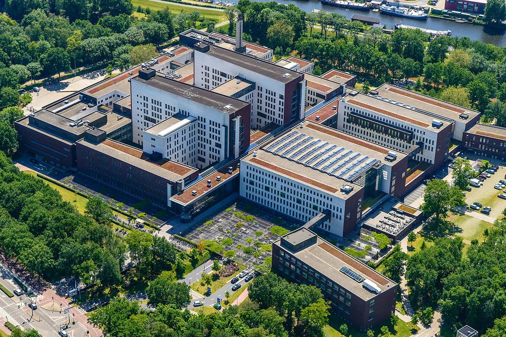 Nederland, Utrecht, Amersfoort, 29-05-2019; Meander Medisch Centrum, algemeen ziekenhuis (voorheen Ziekenhuis Eemland).<br /> Meander Medical Center, general hospital.<br /> luchtfoto (toeslag op standard tarieven);<br /> aerial photo (additional fee required);<br /> copyright foto/photo Siebe Swart