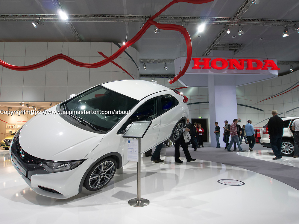 Honda  Civic car on display at Frankfurt Motor Show or IAA 2011 Germany