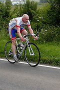 UK, Chelmsford, 28 June 2009: DAVID MARTIN (V) ESSEX ROADS C C. completed the E9 / 25 course in 1 hour 8 mins 46 secs. Images from the Chelmer Cycle Club's Open Time Trial Event on the E9 / 25 course. Photo by Peter Horrell / http://peterhorrell.com .