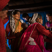 Wedding guests at a traditional wedding in the Himalaya.