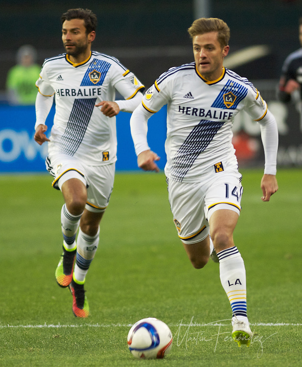 LA's Robbie Rogers Chargers toward United's half of the field. DC United defeated the LA Galaxy 1-0 with a stoppage time goal from Chris Pontius at RFK Stadium in Washington DC.