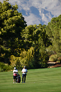 Shane Lowry (IRL) approach shot on on the 2nd fairway during the 1st round at the CJ CUP, Shadow Creek, Las Vegas, Navada, USA. 15/10/2020.<br /> Picture Ken Murray / Golffile.ie<br /> <br /> All photo usage must carry mandatory copyright credit (© Golffile   Ken Murray)