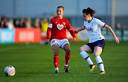 Loren Dykes of Bristol City compest with Lucy Quinn of Tottenham Hotspur Women- Mandatory by-line: Nizaam Jones/JMP - 27/10/2019 - FOOTBALL - Stoke Gifford Stadium - Bristol, England - Bristol City Women v Tottenham Hotspur Women - Barclays FA Women's Super League