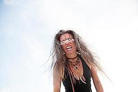 Female shaman expressing rage. Elise Kost Art Medicine Adornment.