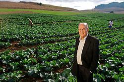 Edi Luiz Deitos, fundador da Grano Alimentos. Ex-contador da Perdigão, depois que se aposentou teve a idéia de fazer uma empresa de vegetais congelados com a mesma fórmula de negócios. FOTO: Jefferson Bernardes / Agência Preview