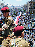 Soldiers of the First Armoured Division defected under their Commander Ali Mohsen Al-Ahmar on March 21and have been protecting the anti-government protestors ever since