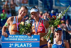 25-08-2019 NED: DELA NK Beach Volleyball, Scheveningen<br /> Last day NK Beachvolleyball / Joy Stubbe #2, Marleen Ramond- van Iersel #1
