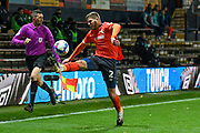 Luton Town defender Martin Crainie (2) controls the ball during the EFL Sky Bet Championship match between Luton Town and Nottingham Forest at Kenilworth Road, Luton, England on 28 October 2020.