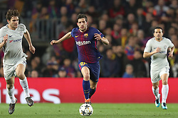 March 14, 2018 - Barcelona, Spain - SERGI ROBERTO of FC Barcelona evades MARCOS ALONSO of Chelsea FC during the UEFA Champions League, round of 16, 2nd leg football match between FC Barcelona and Chelsea FC on March 14, 2018 at Camp Nou stadium in Barcelona, Spain (Credit Image: © Manuel Blondeau via ZUMA Wire)