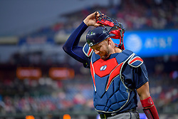May 22, 2018 - Philadelphia, PA, U.S. - PHILADELPHIA, PA - MAY 22: Atlanta Braves catcher Tyler Flowers (25) heads for the dugout during the MLB game between the Atlanta Braves and the Philadelphia Phillies on May 22, 2018 at Citizens Bank Park in Philadelphia PA. (Photo by Gavin Baker/Icon Sportswire) (Credit Image: © Gavin Baker/Icon SMI via ZUMA Press)