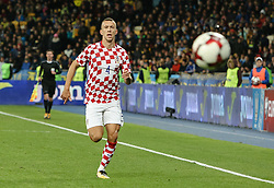 October 9, 2017 - Kiev, Ukraine - Ivan Perisic of Croatia during the FIFA 2018 World Cup Group I Qualifier between Ukraine and Croatia at Kiev Olympic Stadium on October 9, 2017 in Kiev, Ukraine. Ukraine fail to reach the play-offs as they lose 2-0. (Credit Image: © Sergii Kharchenko/NurPhoto via ZUMA Press)