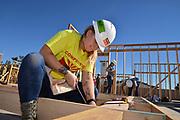Volunteers build homes for Habitat for Humanity, Tucson, Arizona, USA.